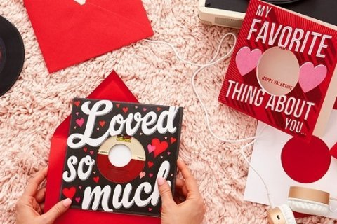 Hallmark releases new vinyl record greeting cards for Valentine's Day