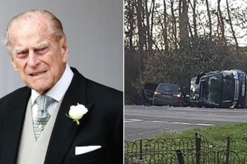 Prince Philip spotted driving without a seat belt 48 hours after car crash