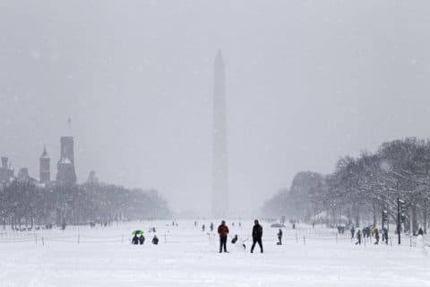 More snow, rain to hit DC area this weekend; winter advisory, warning issued