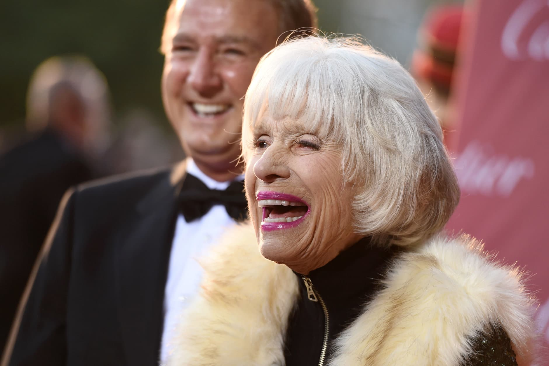 Carol Channing arrives at the 26th annual Palm Springs International Film Festival Awards Gala on Saturday, Jan. 3, 2015, in Palm Springs, Calif. (Photo by Jordan Strauss/Invision/AP)