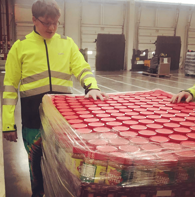 McKay, whose father is a furloughed federal worker, decided to share the peanut butter wealth with other federal workers who are not getting paid during the government shutdown. (Courtesy Eric McKay)