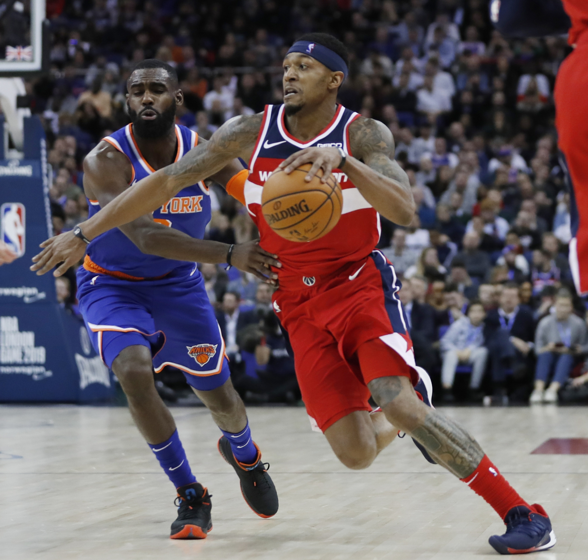 Wizards come from behind to take down Knicks in London