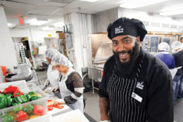 Earl Pass, 44, is a baker at D.C. Central Kitchen and a graduate of the nonprofit's culinary job training program. D.C. Central Kitchen's culinary job training program equips unemployed, underemployed and previously incarcerated individuals with the skills they need to work in restaurants, hotels, hospitals and more. (Courtesy D.C. Central Kitchen)