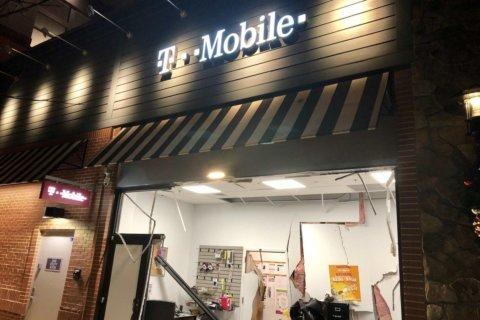 DC T-Mobile burglarized after stolen U-Haul crashes into store