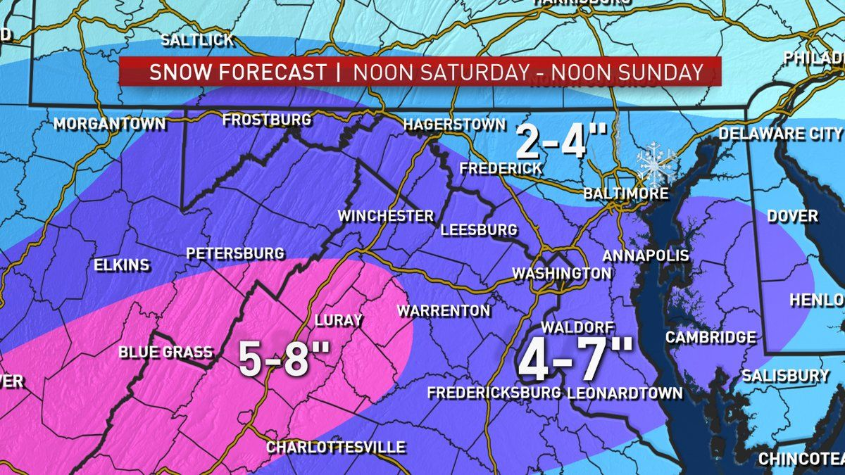 1st Snowstorm In Months Likely This Weekend Impacts Moderate Wtop