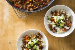 "This undated photo provided by America's Test Kitchen in January 2019 shows Chipotle Beef Chili Bowls in Brookline, Mass. This recipe appears in the cookbook ""One-Pan Wonders."" (Carl Tremblay/America's Test Kitchen via AP)"