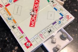 It's either miniature Monopoly or a version for cats. (WTOP/Julia Ziegler)