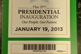 When you score press credentials to an inauguration, you hang onto them — until it's time to move. (WTOP/Jack Pointer)