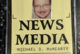 The Smithsonian has claimed WTOP News Director Mike McMearty's media credentials. (WTOP/Jack Pointer)