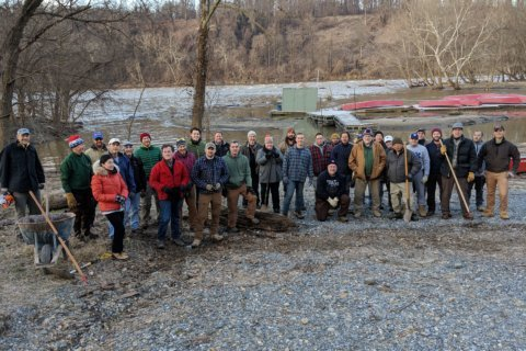 Volunteers clean popular spot on the Potomac ahead of spring fishing