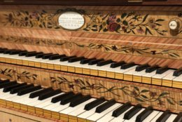 The 1793 harpsichord that George Washington acquired for his step-granddaughter was recently replicated and will be on display at George Washington's Mount Vernon. (WTOP/Rachel Nania)