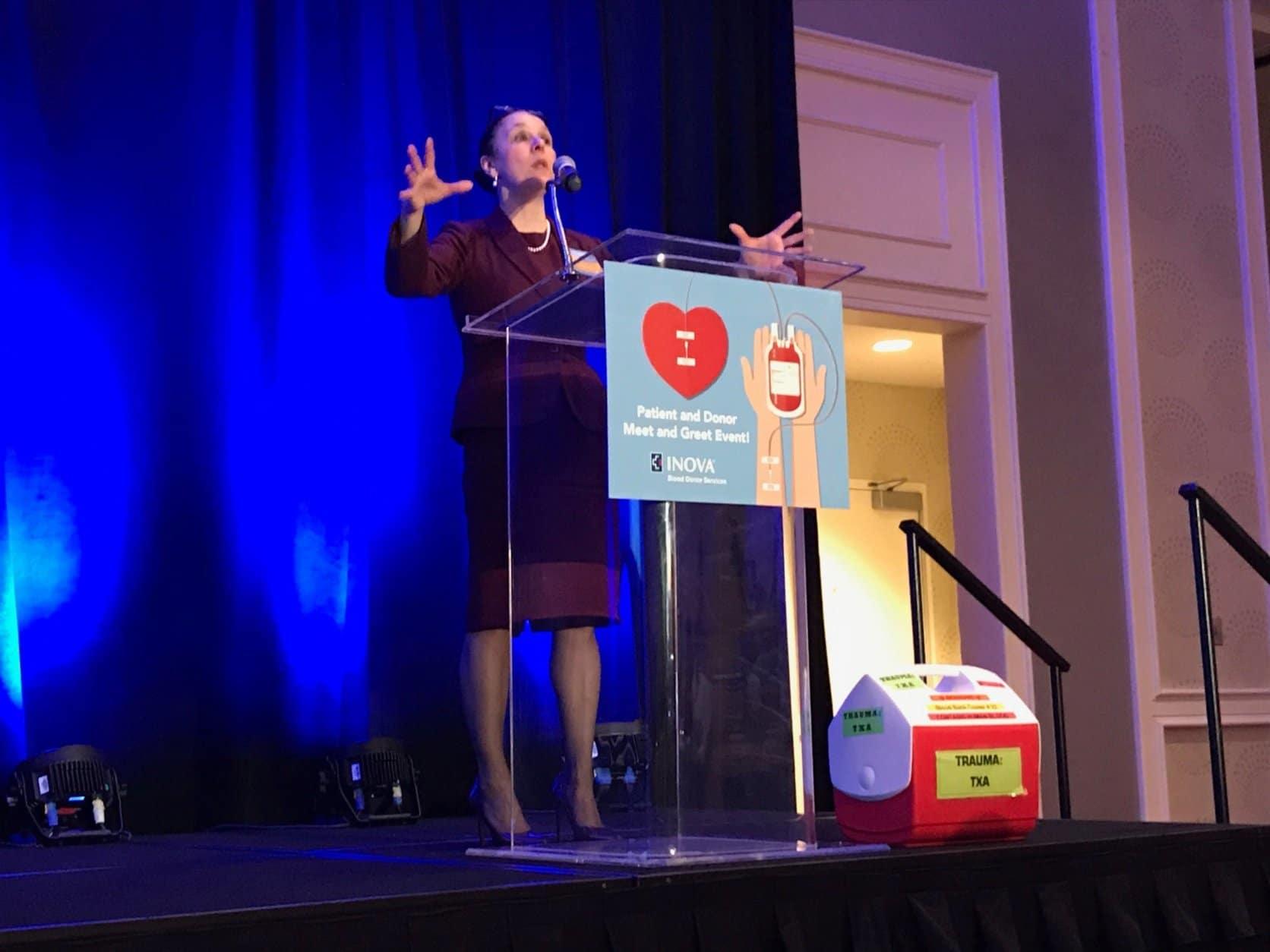 Dr. Anne Rizzo was the boy's surgeon at Inova Fairfax Hospital. (WTOP/Michelle Basch)