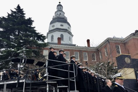 It's Induction Day for new Naval Academy midshipmen
