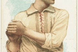Timothy Keefe, New York Giants. Issued in 1887 by Allen & Ginter World's Champions. (Courtesy: Library of Congress)