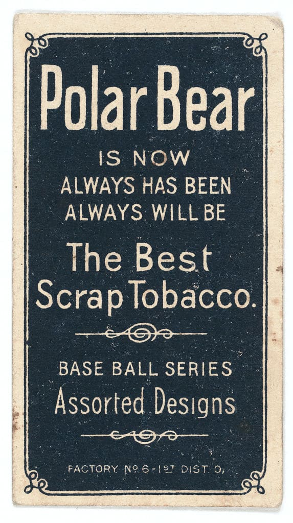 Nap Lajoie, Cleveland Naps. Issued in 1909-11 by American Tobacco Company. (Courtesy: Library of Congress)