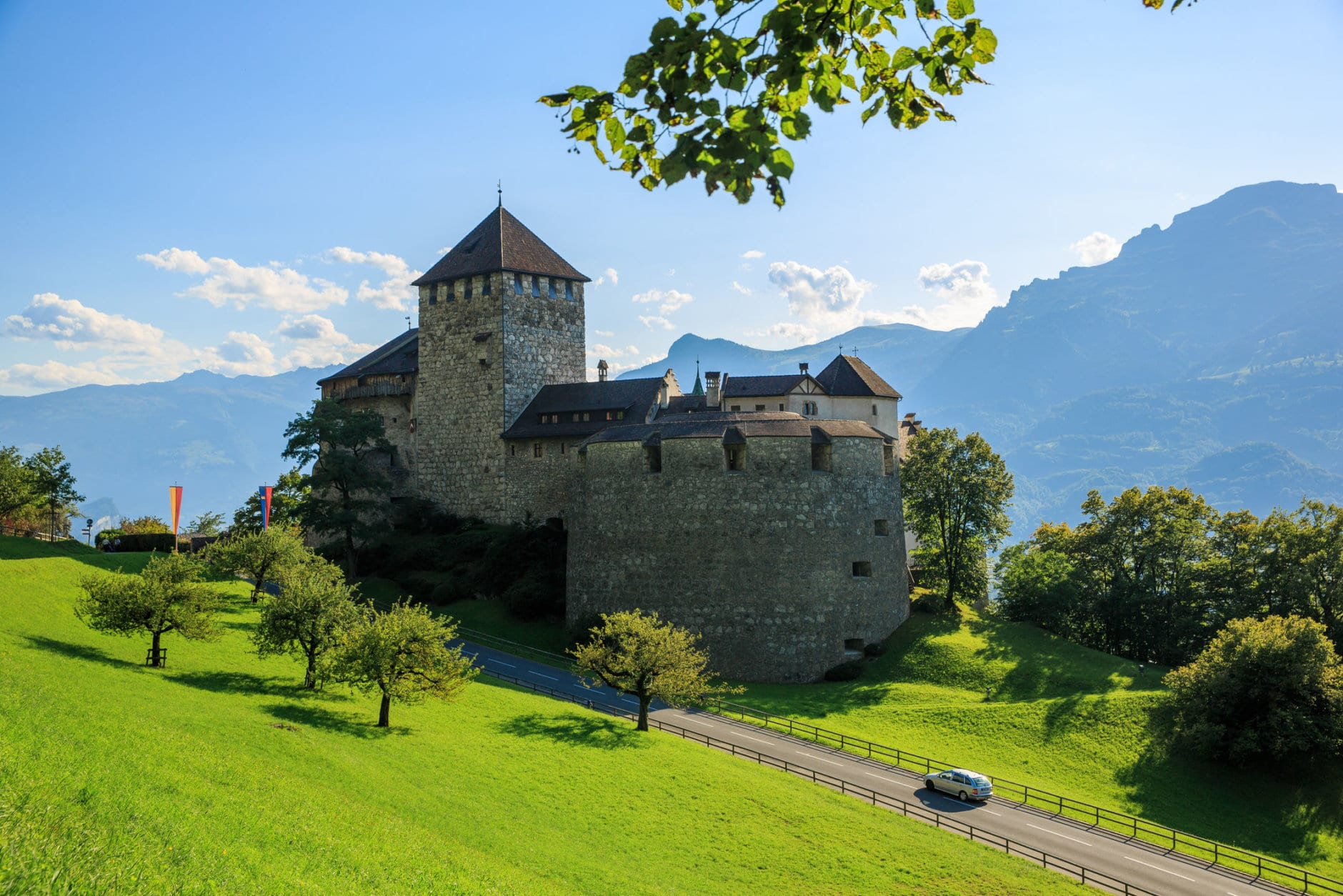 Vaduz Castle is located at the city of Vaduz, Liechtenstein on a hill overlooking the city. Tourists often assume that they can visit the castle but the Prince of Liechtenstein and his family actually lives in the castle so entry is not allowed. (Getty Images/iStockphoto/Gökçen TUNÇ)
