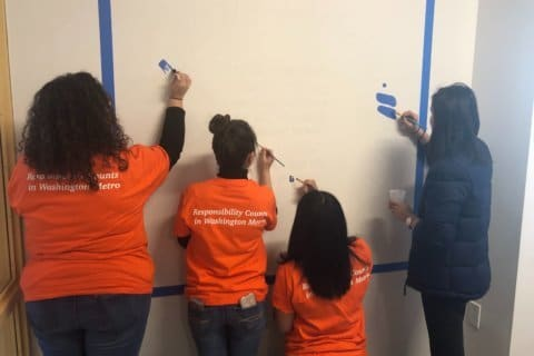 Art and inspiration: Volunteers transform DC high school for MLK Day of Service