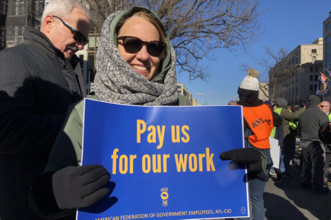 'There's a lot of people hurting right now': Labor unions rally to demand government reopen