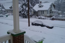 Welcome to snowy Riverdale, Maryland. (Courtesy Connie Randolph)