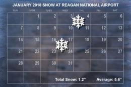 January 2018 snow. (WTOP/Dave Dildine)