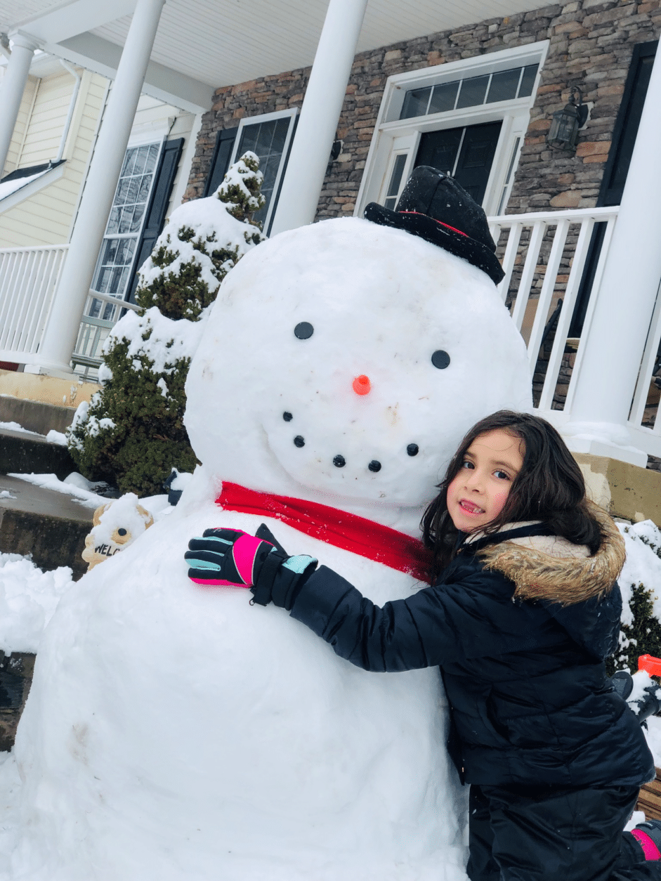 This D.C.-area resident embraced the cold. (Courtesy Brenda Colunga)