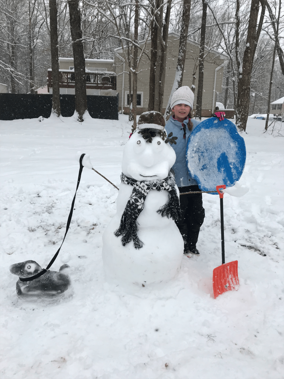 Look at this creative creation, complete with snow pet! (Courtesy WTOP listener)