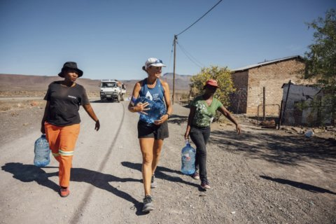 Water advocate, injured, aims for 100 marathons in 100 days