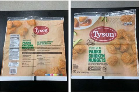 Tyson chicken nuggets recalled, may contain rubber