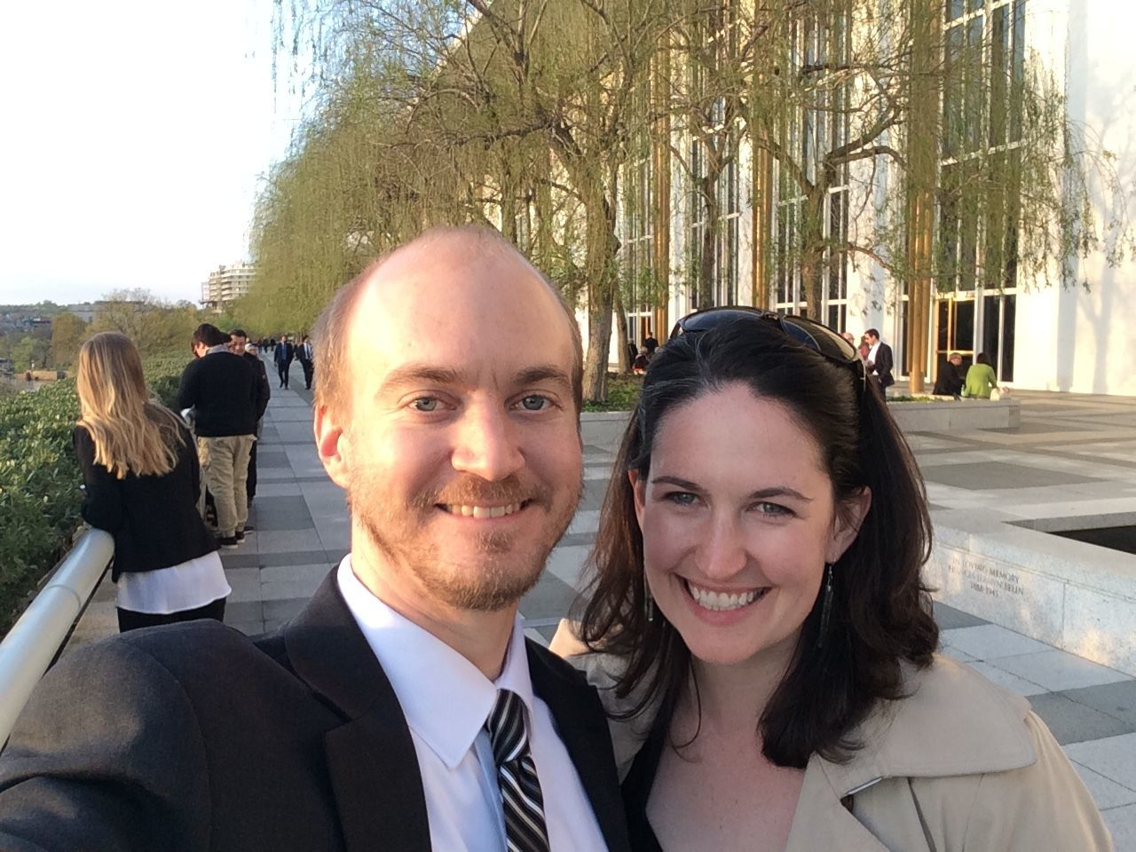 The lack of a marriage license isn't the only hitch in Claire and her fiance Sam's plans to get hitched. The Portrait Gallery — where they hoped to have pictures taken — is closed as well due to the shutdown. (Courtesy Claire O'Rourke)