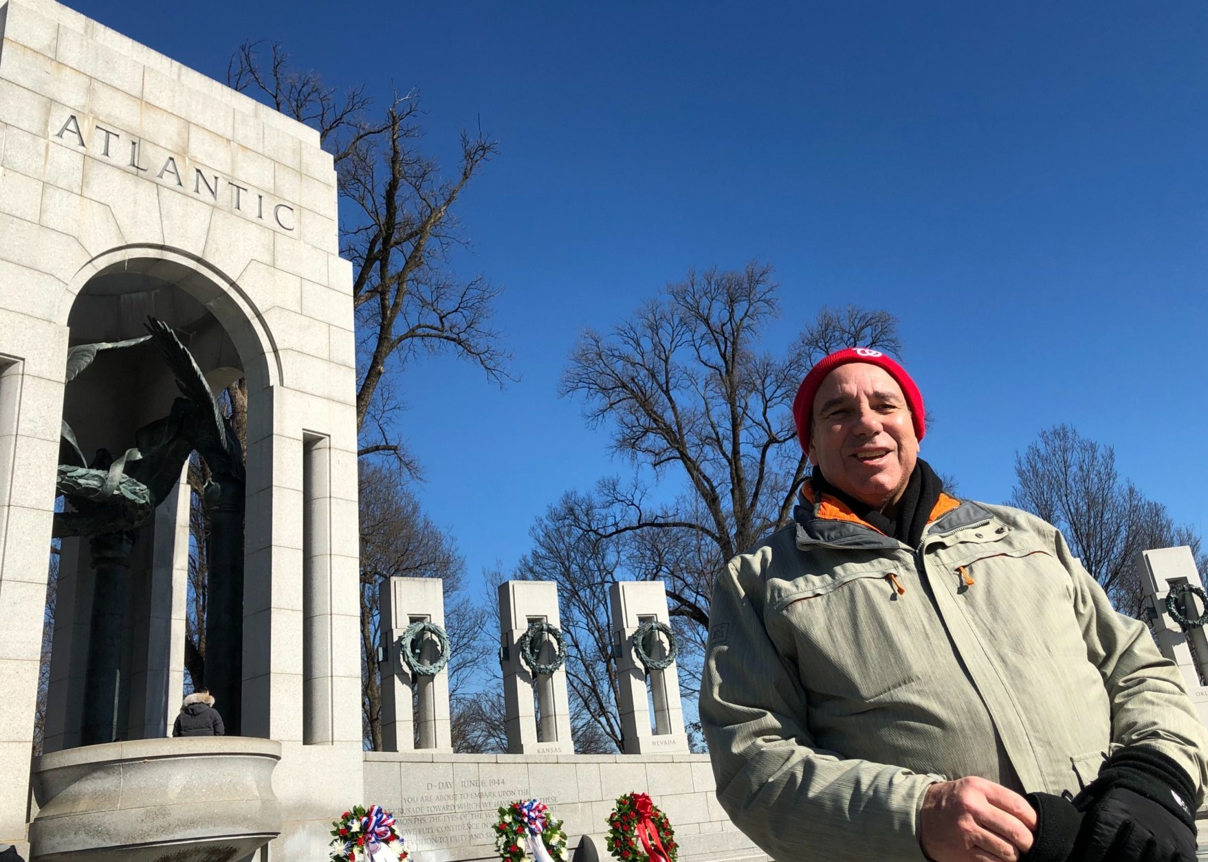 World War II Memorial volunteer Joe Gaziano said the months long campaign in Italy just prior to D-Day in France meant the Allies had the enemy on the run.