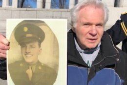 Fred Muntzner is the son of Frederick Muntzner, who was killed at The Battle of Anzio on April 18, 1944. (WTOP/Kristi King)