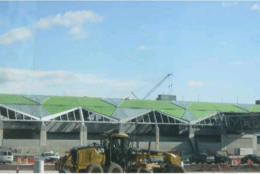 Roofing and Skylight Installation at Ashburn Station (Courtesy/ Metropolitan Washington Airports Authority)