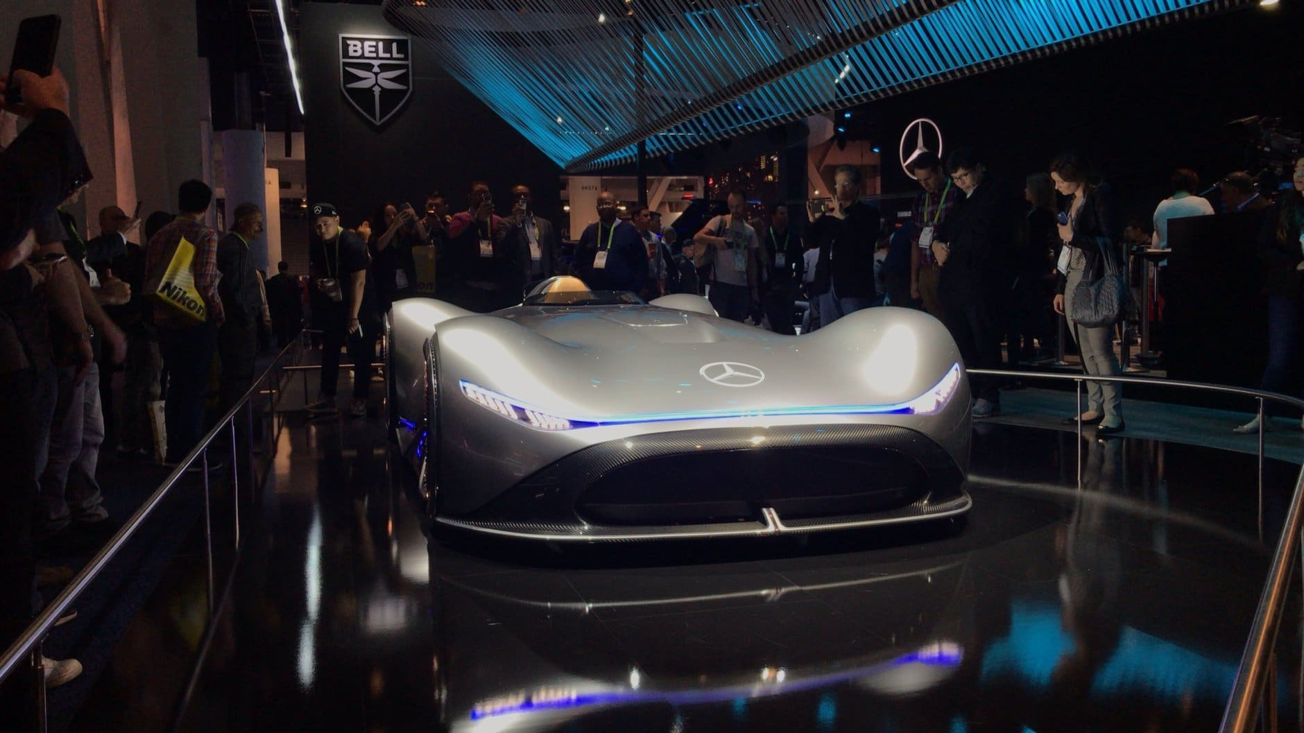 Mercedes unveils its latest cutting-edge vehicle at CES. (Heather Mahoney)