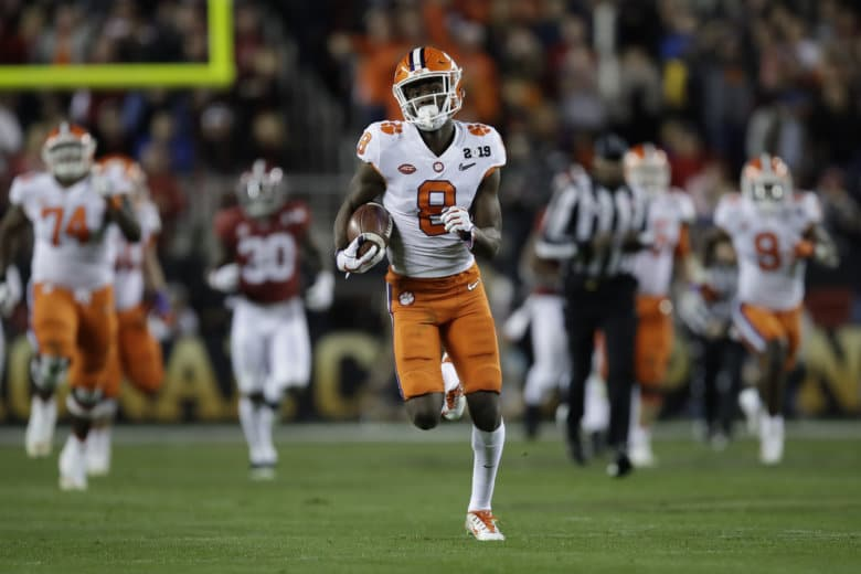 official photos 6f86b 1692c Clemson s Justyn Ross catches a touchdown pass during the second half of  the NCAA college football playoff championship game against Alabama.