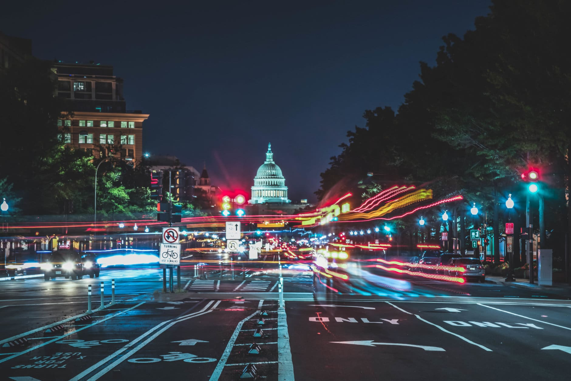 Here is the token nighttime long exposure shot of the U.S. Capital building in Washington D.C.