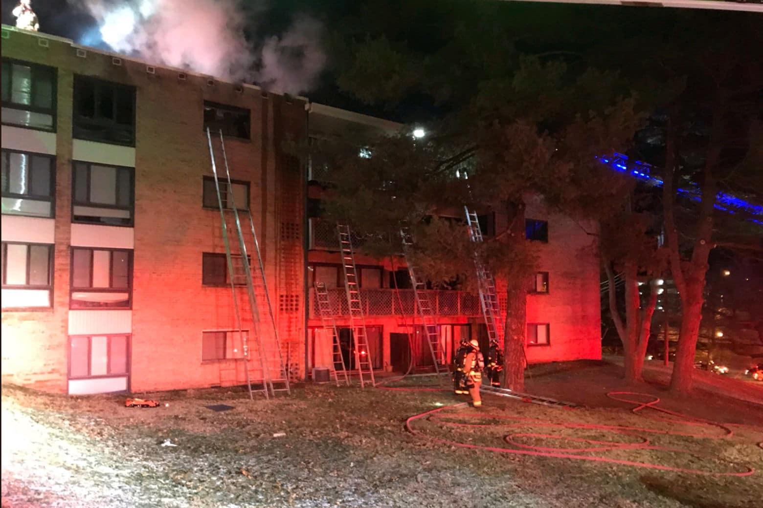apartment fire Bailey's Crossroads