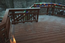Snow falling in Fairfax County during the storm's early stages in Fairfax County, Va. (Courtesy Keith Rouleau via Twitter)