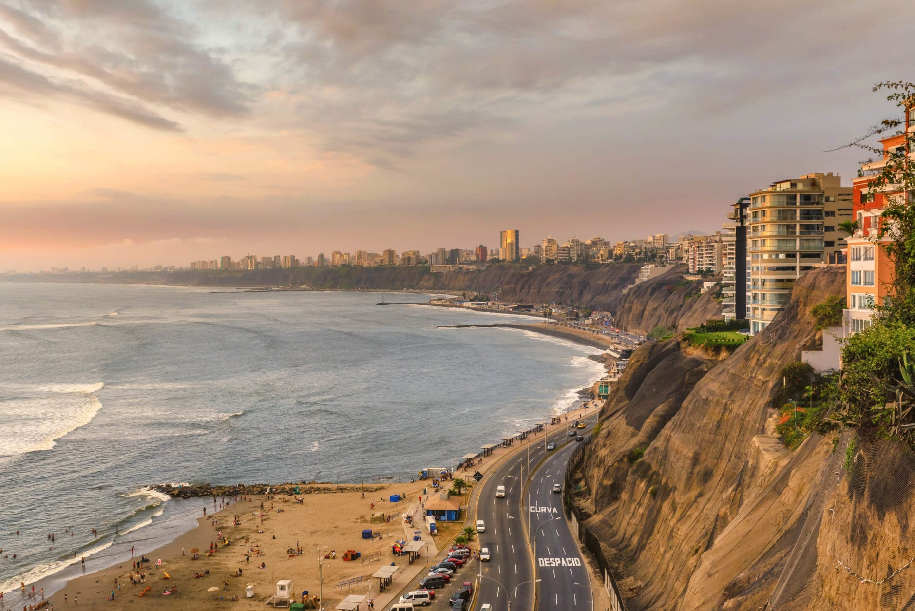 The Pacific coast of Miraflores in Lima, Peru. (Getty Images/iStockphoto/DVrcan)