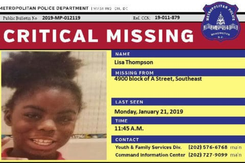 UPDATE: DC police locate critically missing 11-year-old girl