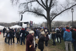 Activists gather for Friday's March for Life. (WTOP/Max Smith)
