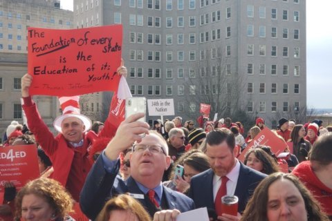 Virginia teachers rally for more education funding