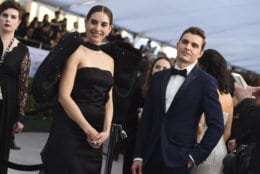 Alison Brie, left, and Dave Franco arrive at the 25th annual Screen Actors Guild Awards at the Shrine Auditorium & Expo Hall on Sunday, Jan. 27, 2019, in Los Angeles. (Photo by Jordan Strauss/Invision/AP)