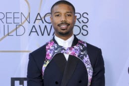 Michael B. Jordan arrives at the 25th annual Screen Actors Guild Awards at the Shrine Auditorium & Expo Hall on Sunday, Jan. 27, 2019, in Los Angeles. (Photo by Willy Sanjuan/Invision/AP)