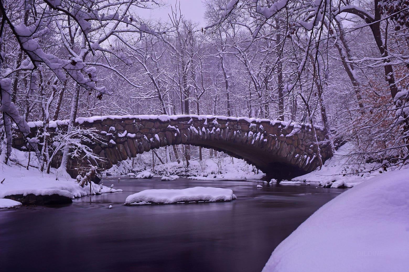 snow on Boulder Bridge