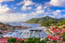 Saint Barthelemy skyline and harbor in the West Indies of the Caribbean. (Getty Images/iStockphoto/Sean Pavone)
