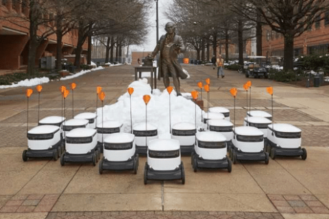 Robots are now delivering food on GMU campus