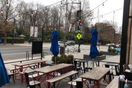 The gastropub Duke's Counter had a few patrons at the bar. (WTOP/Kristi King)