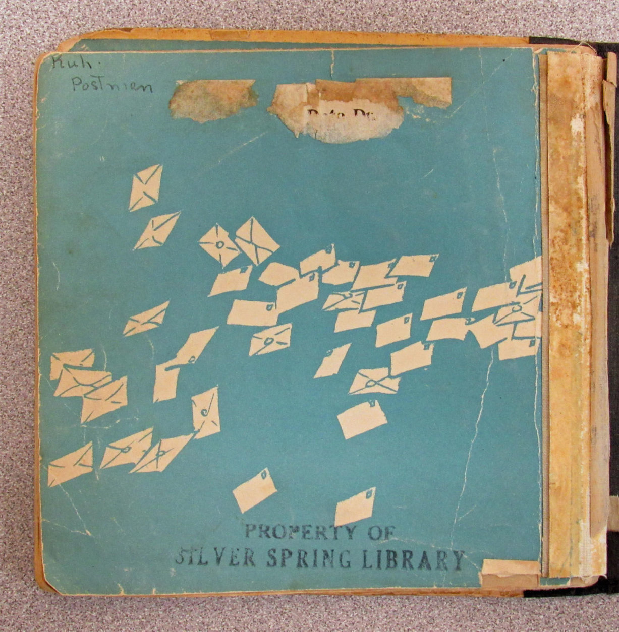 The book was checked out in 1946 and was inadvertently packed up when Mora Gregg's family moved from D.C. to Canada. (Courtesy Montgomery County Public Library)
