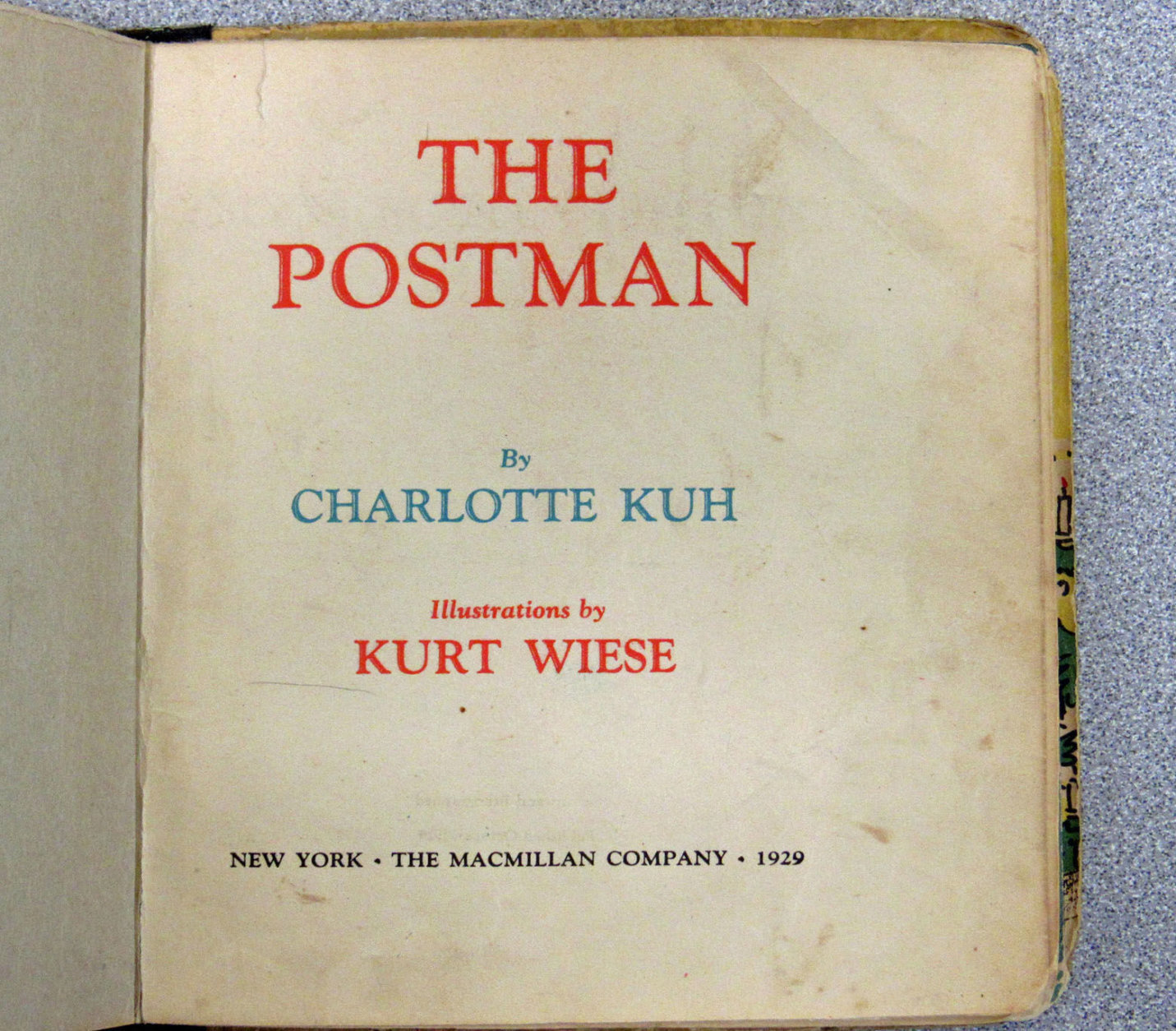 """""""The Postman"""" by Charlotte Kuh and illustrated by Kurt Wiese was originally published in 1929. (Courtesy Montgomery County Public Library)"""