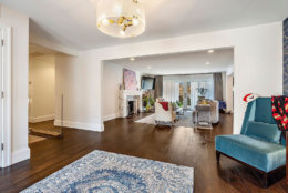 The house, which was listed for $1.75 million, features wall-to-wall walnut hardwood floors, valued at $80,000. (Courtesy Century 21 New Millennium/RealMarkets)